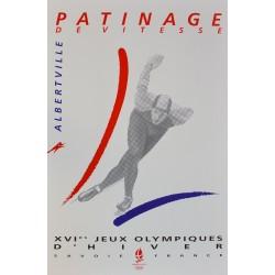 XVIe Jeux Olympiques d'Hiver. Albertville. Patinage de vitesse. 1992.