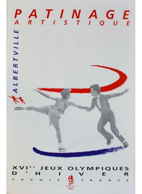 XVIe Jeux Olympiques d'Hiver. Albertville. Patinage artistique. 1992.