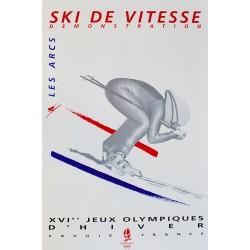 XVIe Jeux Olympiques d'Hiver. Albertville. Ski de vitesse. 1992.