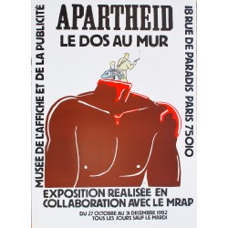 Willem. Apartheid, le dos au mur. 1982.