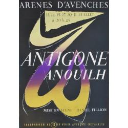 André Pache. Antigone Anouil, Arènes d'Avenches. 1954.