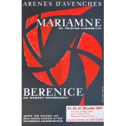 André Pache. Mariamne de Tristan L'Hermitte, Arènes d'Avenches. 1957.