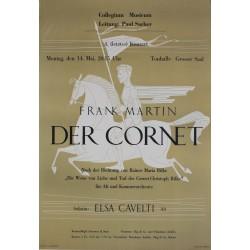 Josef Müller-Brockmann. Frank Martin, Der Cornet. 1946.