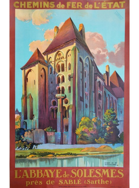 Henry de Renaucourt. L'abbaye de Solesmes. Circa 1935.