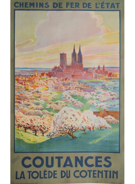 Coutances, la Tolède du Cotentin. Circa 1930.