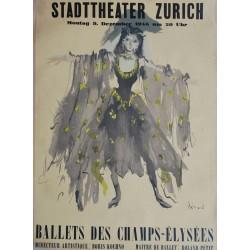 Christian Bérard. Ballets des Champs-Elysées, Zürich. 1946.