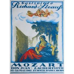 Emil Cardinaux. Gastspiele Richard Strauss. Mozart. 1917.