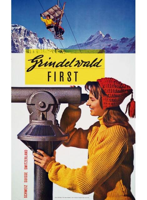 Adolf Flückiger. Grindelwald First. 1957.