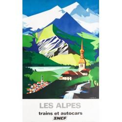 Jean Jacquelin. Les Alpes. SNCF. 1966.