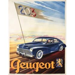 Peugeot 203. Vers 1955.