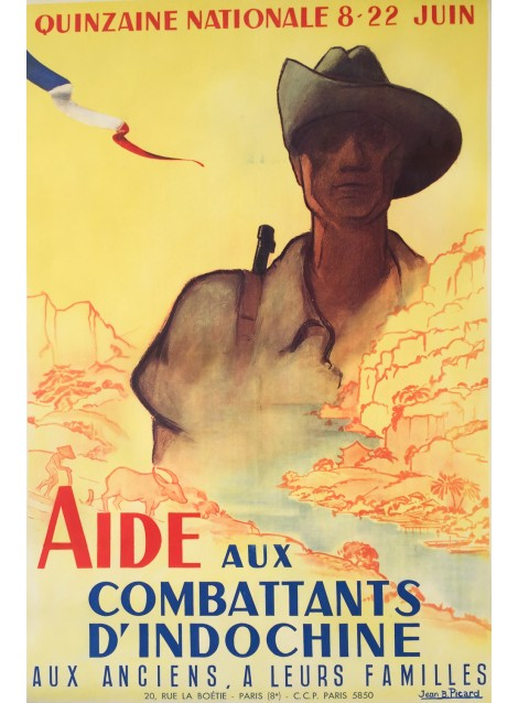 Jean B. Picard. Aide aux combattants d'Indochine. Vers 1950.