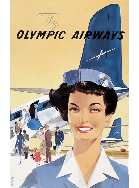 Hans Looser. Fly Olympic Airways. 1958.
