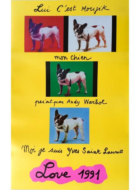 Yves Saint Laurent. Love. 1991.