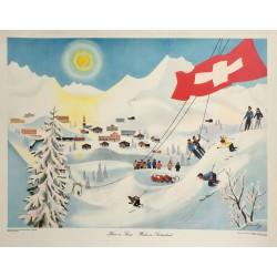 Richard Gerbig. Hiver en Suisse. 1950.