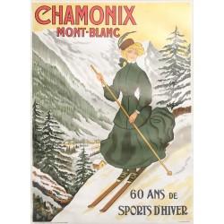 D'après Abel Faivre. Chamonix Mont-Blanc. Vers 1965.