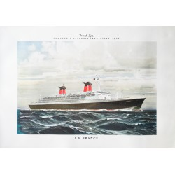 Marin Marie. S.S. France. French Line. Vers 1965.
