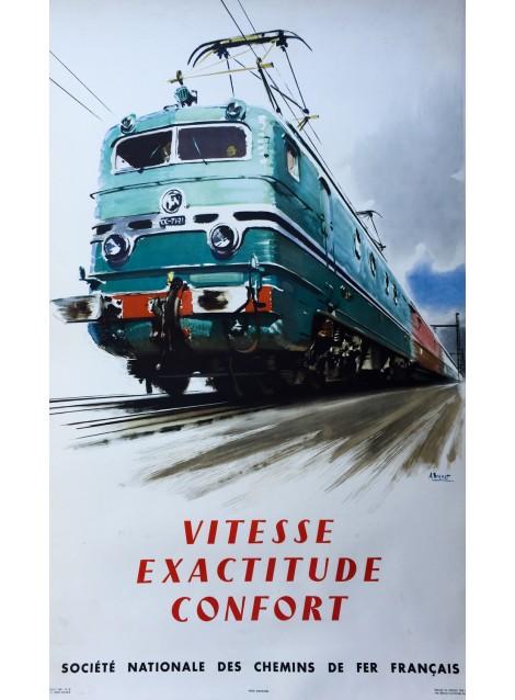 Albert Brenet. SNCF Vitesse Exactitude Confort. 1954.