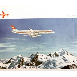 Swissair. Douglas DC-8-62. 1968.