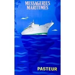 Jean Desaleux. Messageries Maritimes Pasteur. Vers 1966