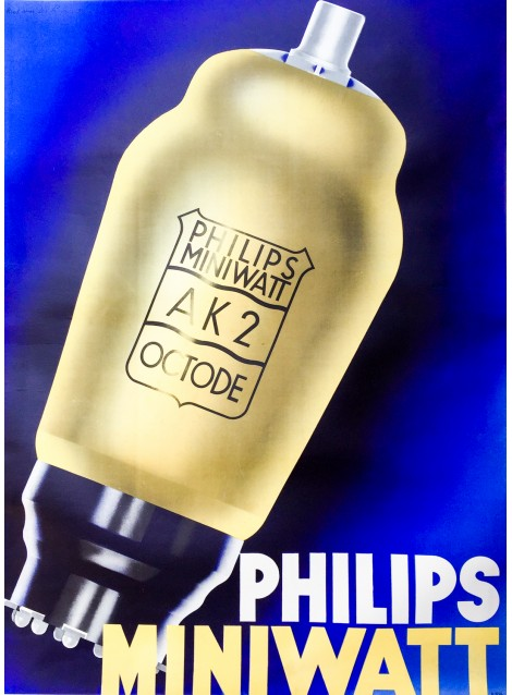 Philips Miniwatt. Ca 1930.