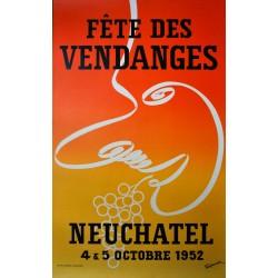 Fête des Vendanges, Neuchâtel. Louis Tinturier. 1952.