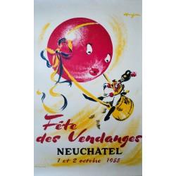 Fête des Vendanges, Neuchâtel. André Huguenin. 1955.