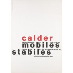 Fridolin Müller. Calder, Mobiles, Stabiles, Zürich. 1960.