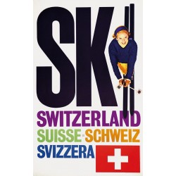 René Bittel. Ski Switzerland. 1959.
