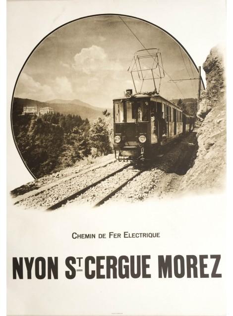 Nyon St. Cergue Morez. Vers 1925.