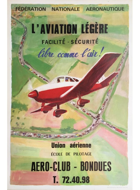 Georges Beuville. L'aviation légère. Vers 1960.