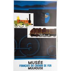 Pierre Fix-Masseau. Musée français du chemin de fer Mulhouse. Vers 1980.