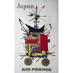 Georges Mathieu. Japon, Air France. 1967.
