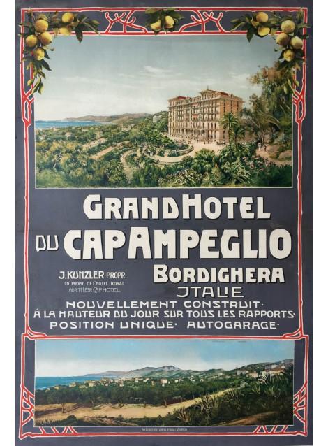 Gand Hôtel du Cap Ampeglio, Bordighera. Vers 1905.