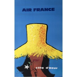René Gruau. Air France. Côte d'Azur. 1962.