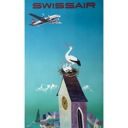 Donald Brun. Swissair. 1954.