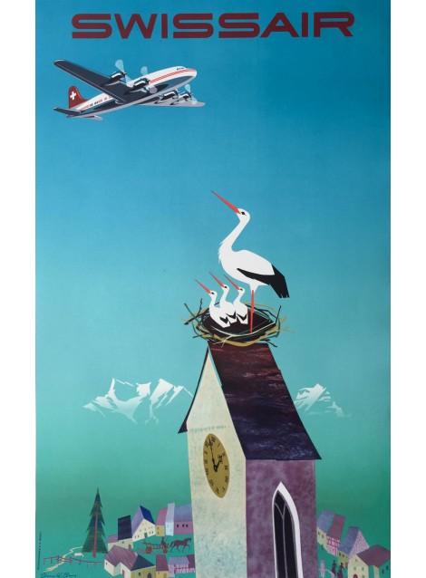 Donald Brun. Swissair. 1954.
