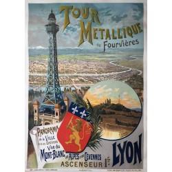 F. Hugo d'Alési. Tour métallique de Fourvières, Lyon. 1894.