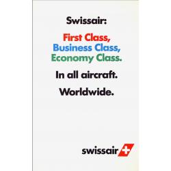 GGK Werbeagentur. Swissair : First Class... Ca 1990.