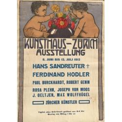 Fritz Boscovitz. Kunsthaus-Zürich Ausstellung Sandreuter, Hodler. 1913.