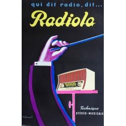 Bernard Villemot. Radiola. Vers 1960.