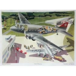 Hans Erni. Avion de transport, Verkehrsflugzeug. 1941.