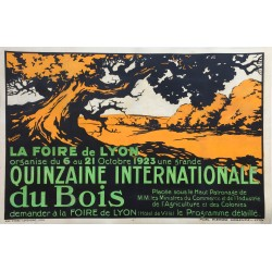 Quinzaine internationale du bois, Lyon. 1923.
