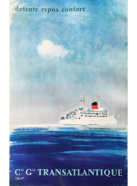 Albert Brenet. Compagnie générale transatlantique. Vers 1965.