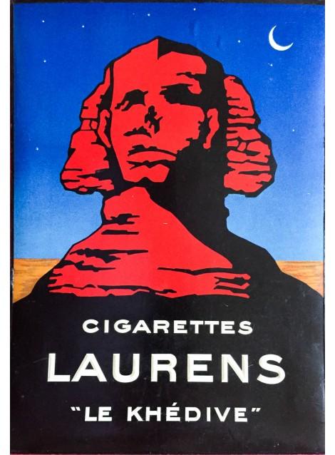 """Cigarettes Laurens """"Le Khédive"""". Vers 1925."""