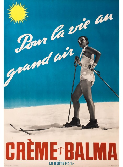Crème Balma. Vers 1935.