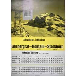 Gornergrat - Hohtälli - Stoickhorn [Zermatt]. 1960.