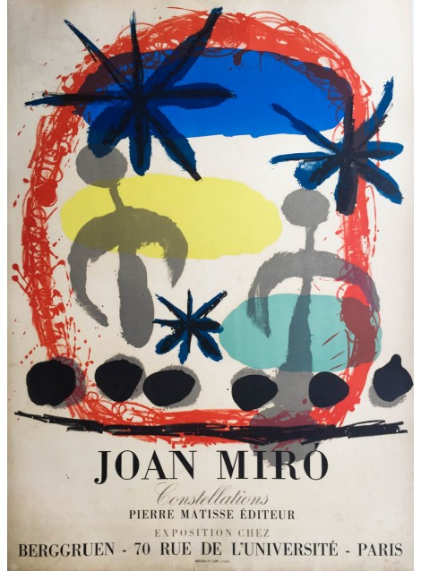 Joan Miró. Constellation, Berggruen, Paris. 1959.