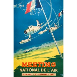 Yves Delfo. Meeting national de l'air, Cannes. 1953.