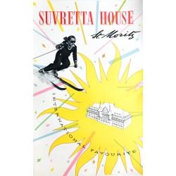 Walter Herdeg. Suvretta House. St. Moritz. Vers 1939.