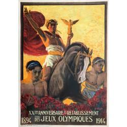 Edouard Elzingre. XXe anniversaire du rétablissement des Jeux Olympiques. 1914.